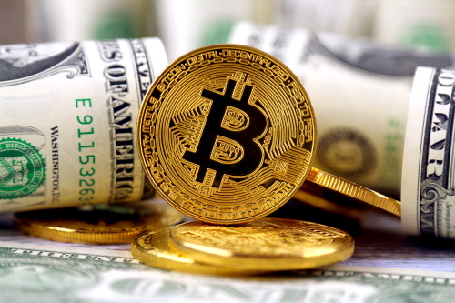 One of cryprocurrencies, bitcoin