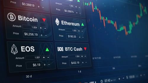 futuristic cryptocurrency exchange