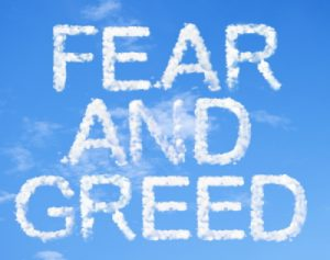 fear and greed emotions to control