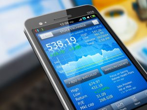 trading online on a mobile device