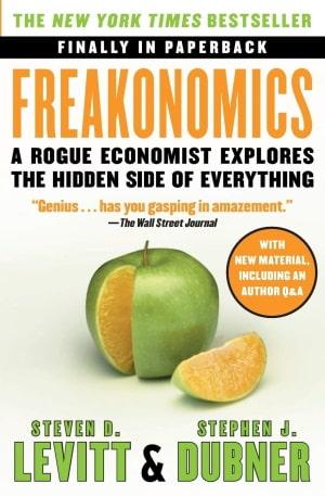 Freakonomics Steven Levitt Stephen Dubner book cover