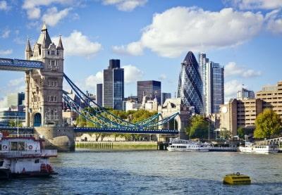 London's financial district view