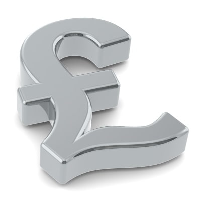 A Silver Pound Symbol